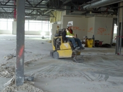 Floor Machine in Use